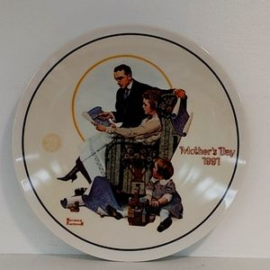 Norman Rockwell Mother's Day 1991 Plate